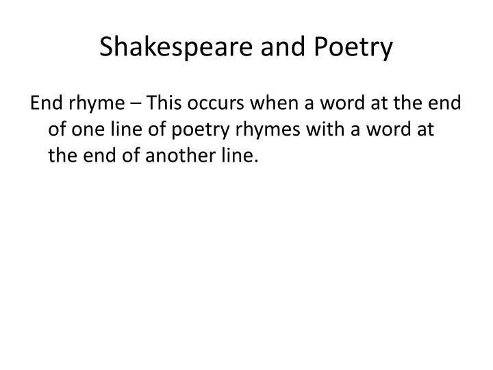 Shakespeare and poetry1