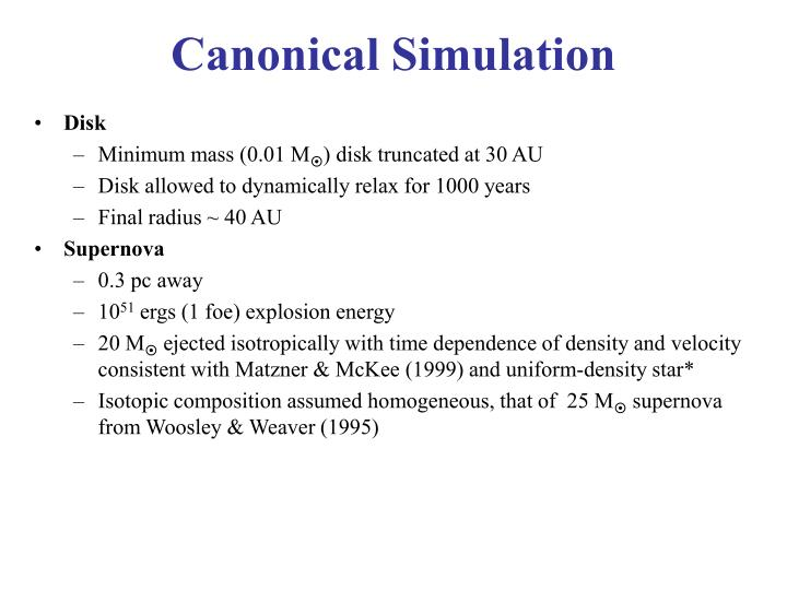 Canonical Simulation