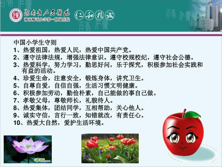 中国小学生守则