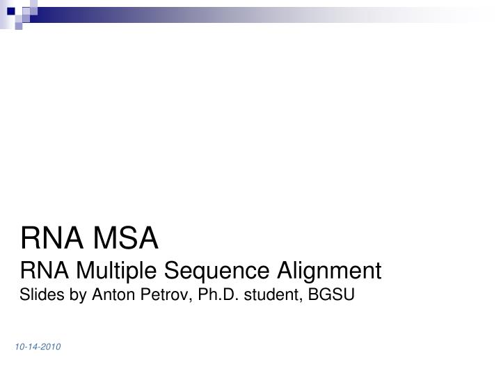 RNA MSA