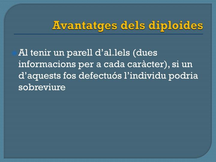 Avantatges dels diploides