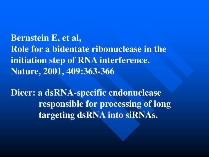 Bernstein E, et al,