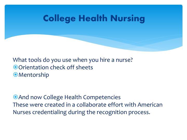 College Health Nursing