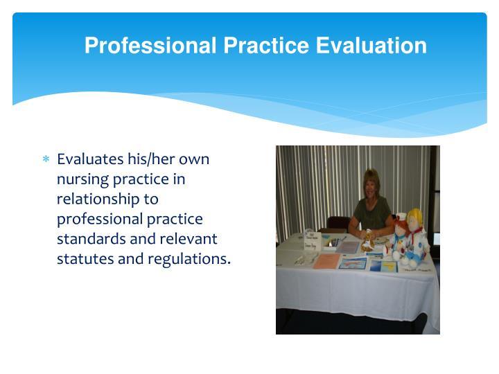 Professional Practice Evaluation