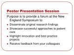 poster presentation session