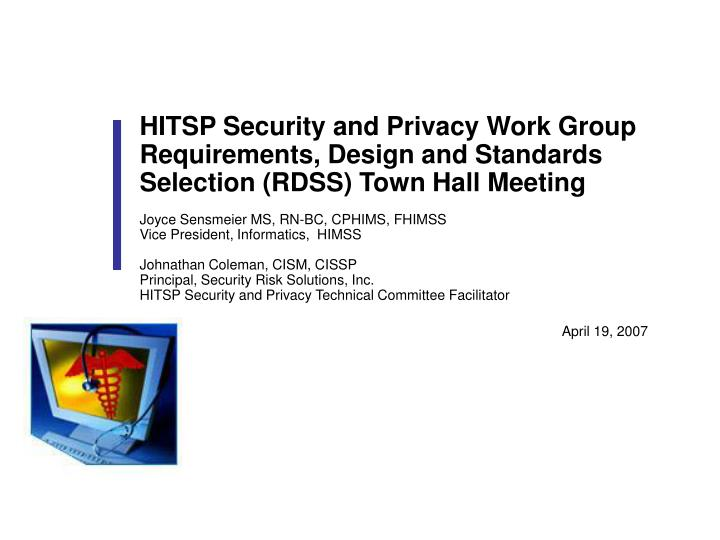 HITSP Security and Privacy Work Group