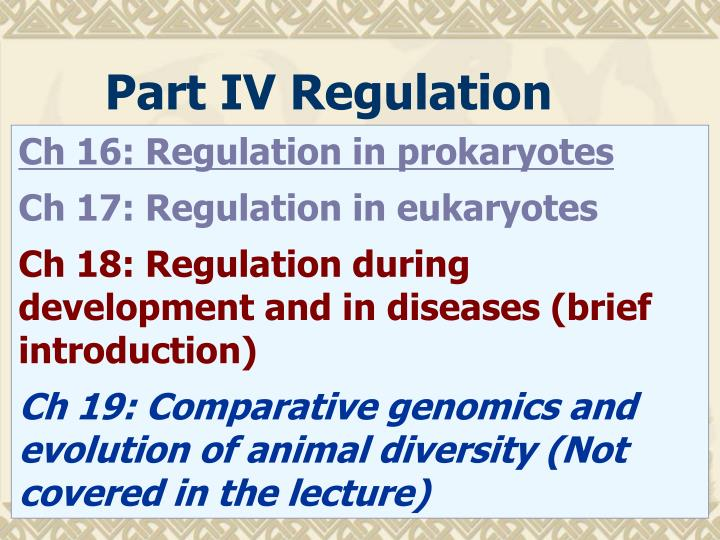 Part IV Regulation
