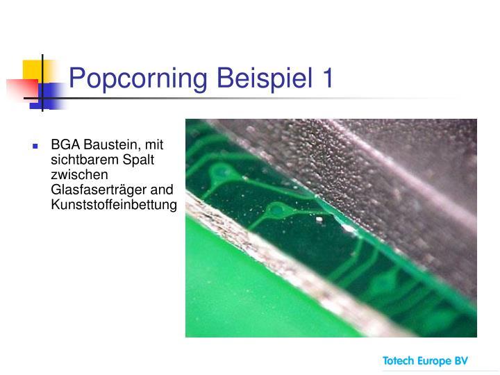Popcorning Beispiel 1