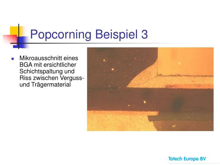 Popcorning Beispiel 3