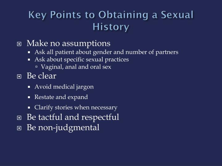 Key Points to Obtaining a Sexual History