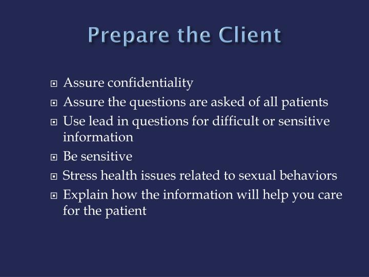 Prepare the Client
