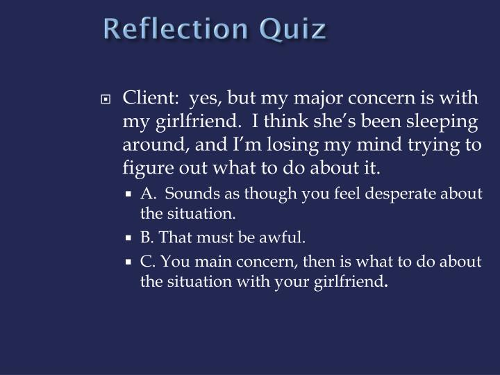 Reflection Quiz