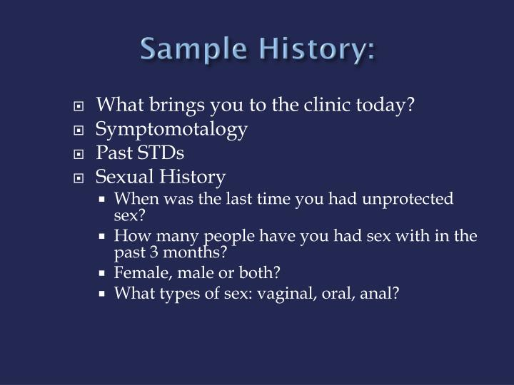 Sample History: