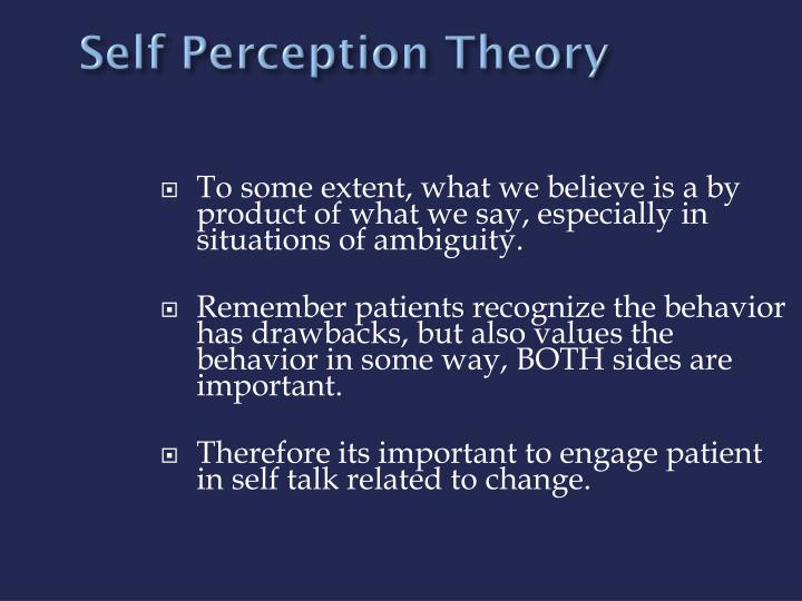 Self Perception Theory