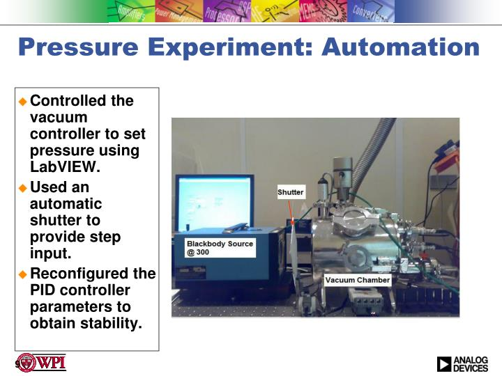 Pressure Experiment: Automation