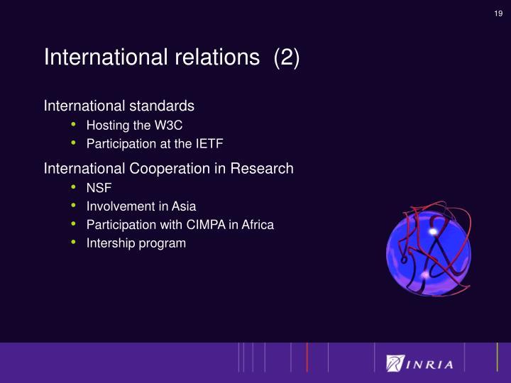 International relations  (2)