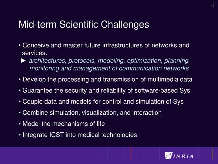 Mid-term Scientific Challenges