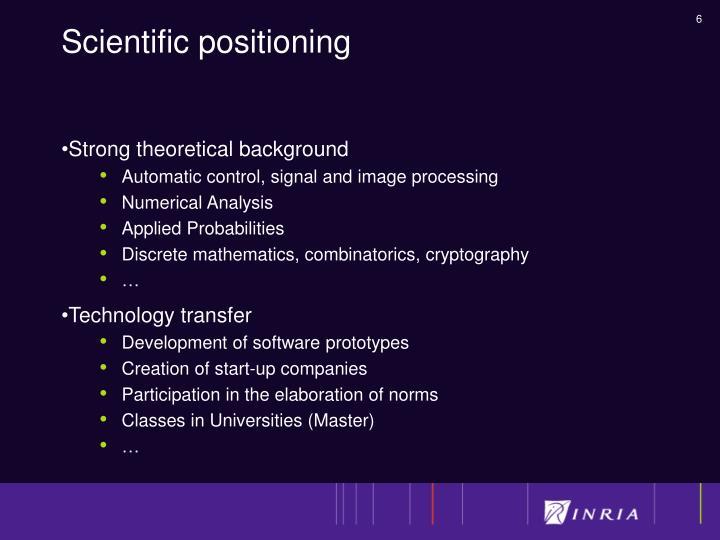 Scientific positioning