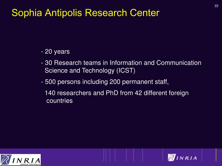 Sophia Antipolis Research Center