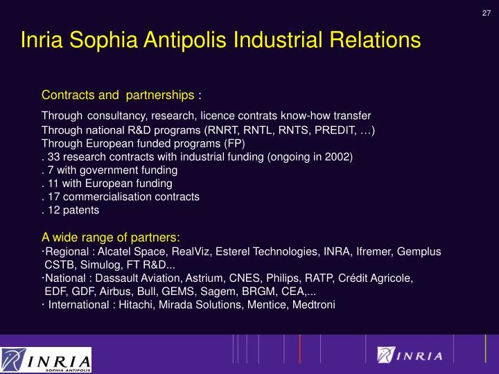 Inria Sophia Antipolis Industrial Relations