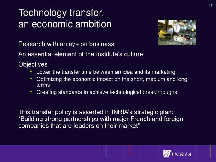 Technology transfer,
