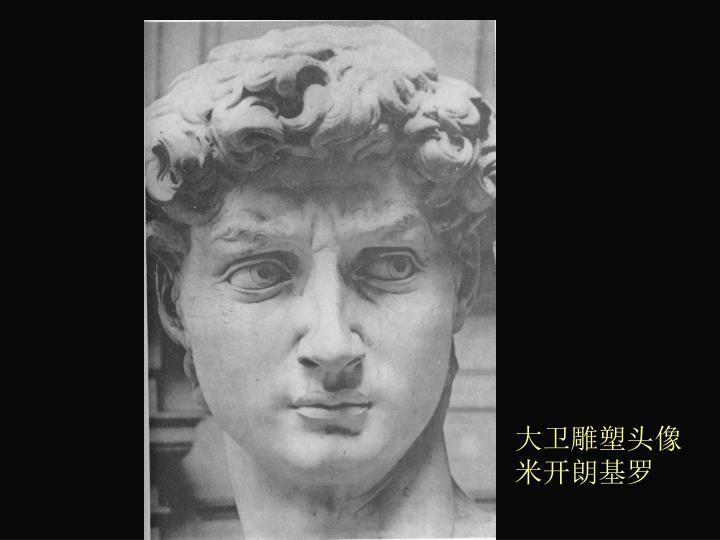 大卫雕塑头像