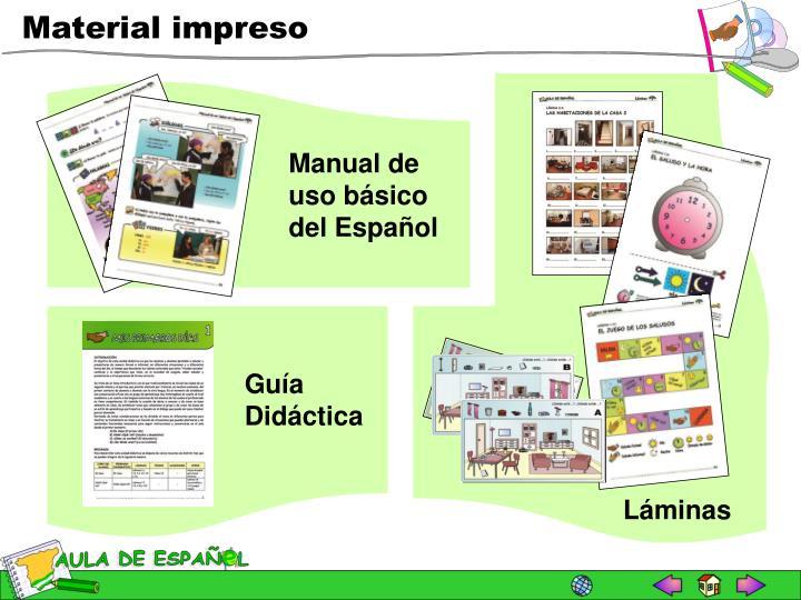 Manual de uso básico del Español