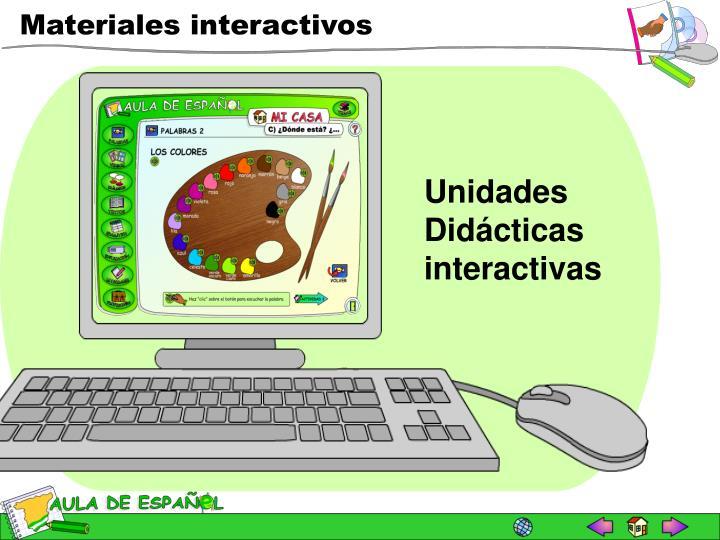 Unidades Didácticas interactivas