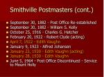 smithville postmasters cont