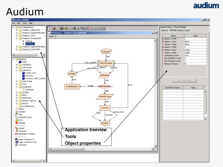 Application treeview