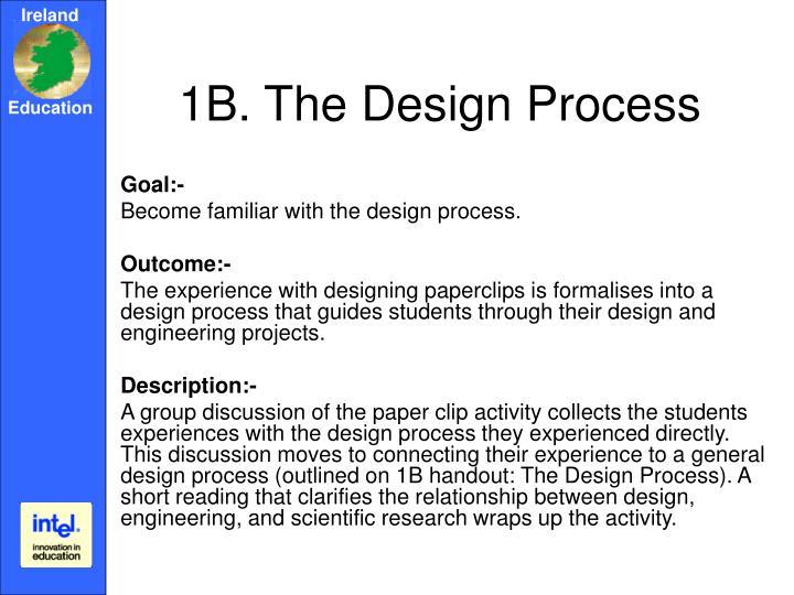 1B. The Design Process