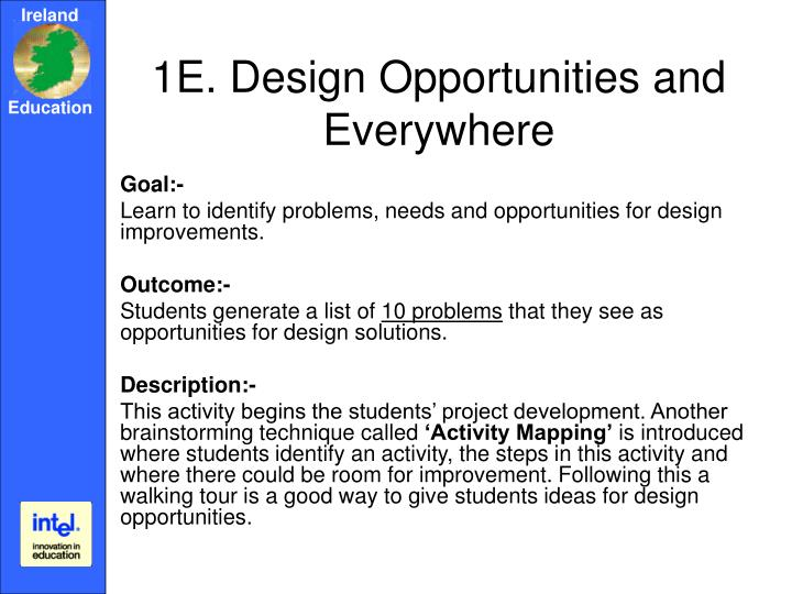 1E. Design Opportunities and Everywhere