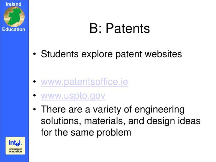 B: Patents
