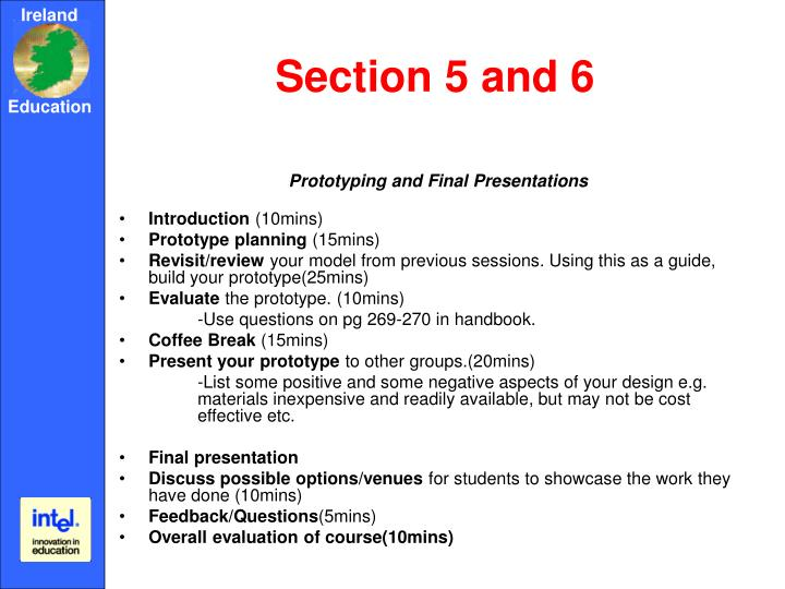 Section 5 and 6