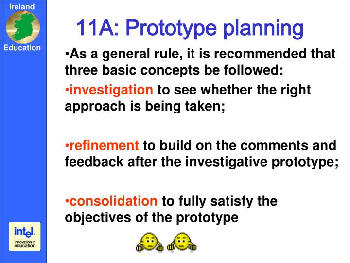 11A: Prototype planning