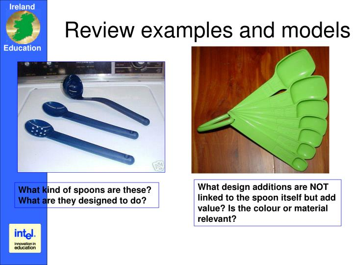 Review examples and models