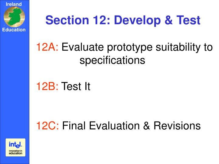 Section 12: Develop & Test