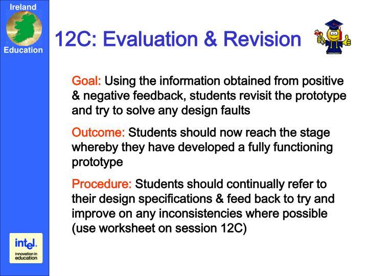 12C: Evaluation & Revision