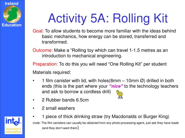 Activity 5A: Rolling Kit