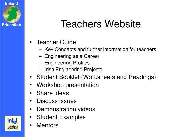 Teachers Website