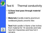 test 6 thermal conductivity