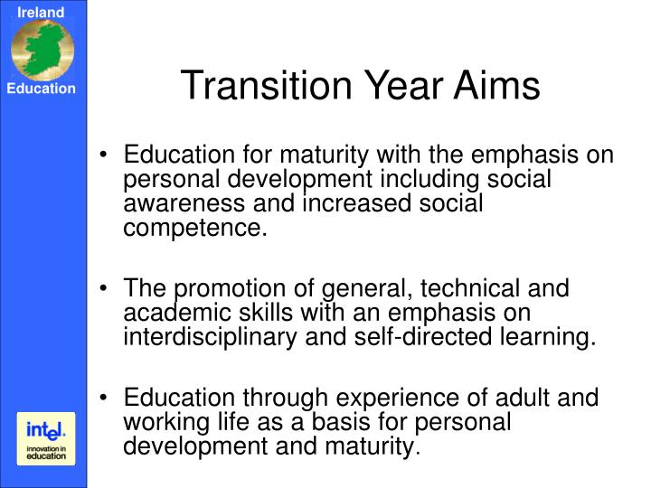 Transition Year Aims