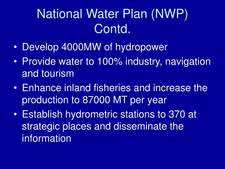National Water Plan (NWP)
