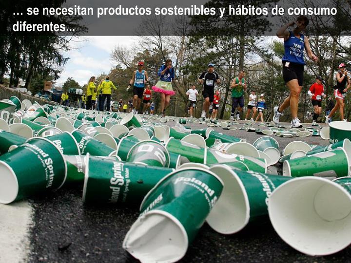 … se necesitan productos sostenibles y hábitos de consumo diferentes...