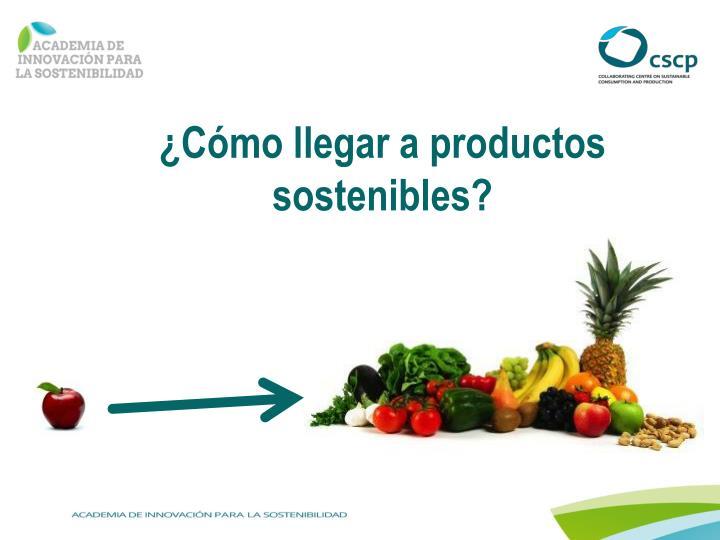 ¿Cómo llegar a productos sostenibles?