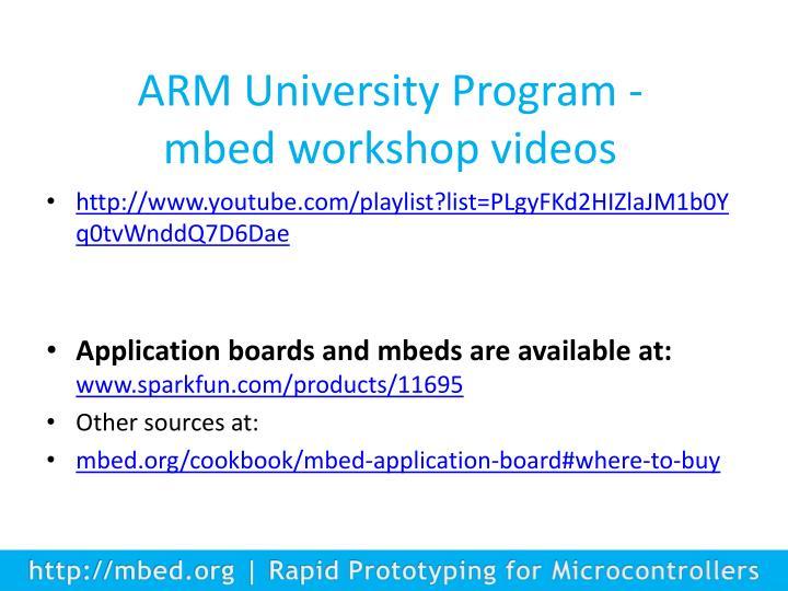 ARM University Program -