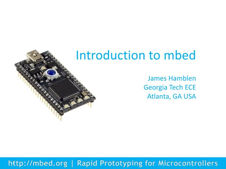 Introduction to mbed