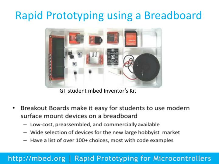 Rapid Prototyping using a Breadboard