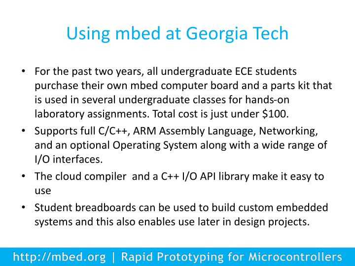 Using mbed at Georgia Tech