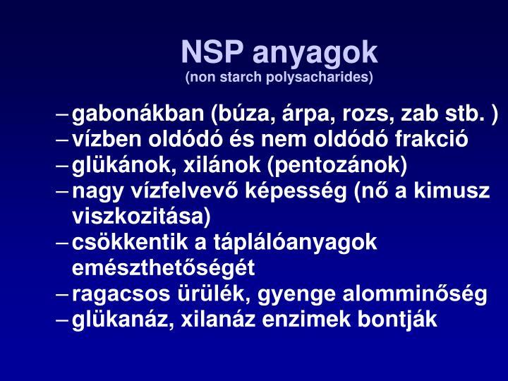 NSP anyagok